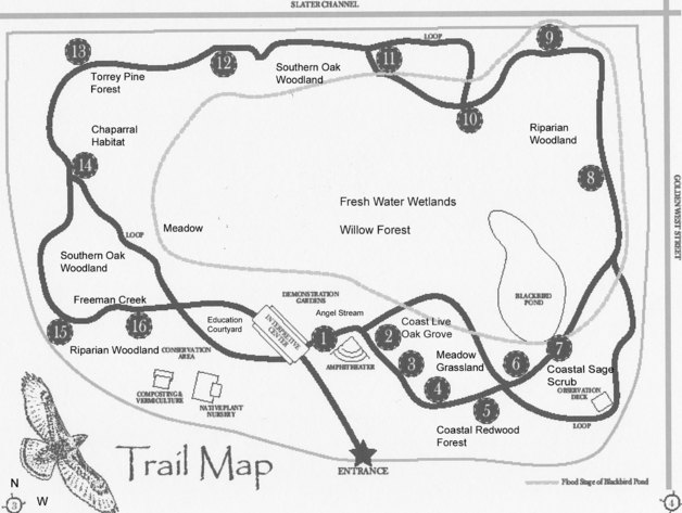 Shipley Nature Center Trail Map