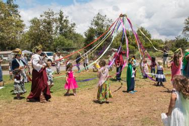 Spring Maypole Dance